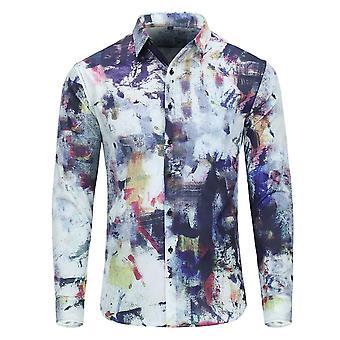 Allthemen Men's Business Casual Velvet Retro gedruckt Anzug