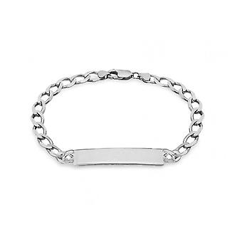 Eternity Sterling Silver Mens 8 1/2 ' ' bromsa ID armband