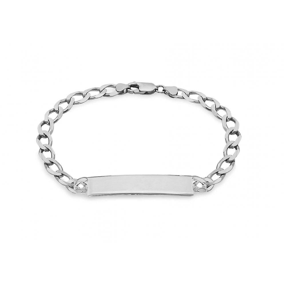 Eternity Sterling Silver Mens 8 1/2'' Curb ID Bracelet