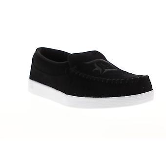DC schurk TX SE mens zwart canvas slip op atletische skate schoenen