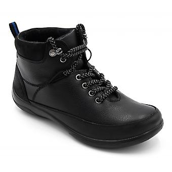 Padders Stoneywell Ladies Leather Extra Wide (2e/3e) Waterproof Boots Black