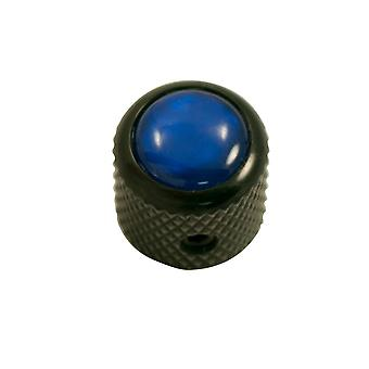 Q Parts Mini - Dome Knob - Acrylic Cap - Pearl Blue / Black Base