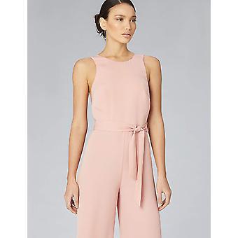 Truth & Fable Women's Wrap Back Wide Leg Jumpsuit, (Soft Pink), EU XS (US 0-2)