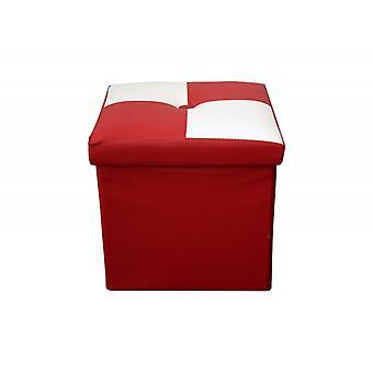 Muebles Rebecca Puff Taburete Blanco Baule Red Cube Diseño Diseño Moderno 30x30x30