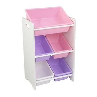 KidKraft Game holder with 5 pastel-colored containers