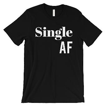 Single AF Mens Black T-Shirt Gag Valentine-apos;s Day Gift Tee Shirt