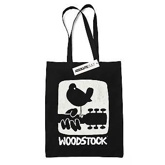 Woodstock Guitar Logo Tote Bag