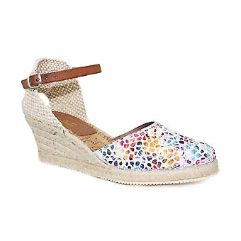 Lunar Copenhagen Lather Closed Toe Espadrille