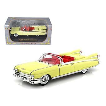 1959 Cadillac Eldorado Biarritz Yellow 1/32 Diecast Car Model By Signature Models