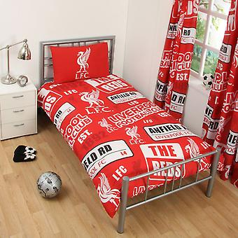 Liverpool FC Patch Single Duvet Cover And Pillow Case Set