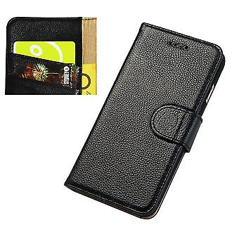 Pour iPhone 8,7 Wallet Case,Fashion Cowhide Durable Genuine Leather Cover,Black