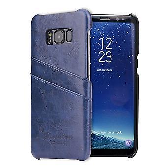 Voor Samsung Galaxy S8 Case, Stijlvolle Luxe Duurzame beschermende lederen cover, Blauw