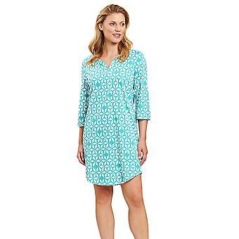 Rösch 1203004-15643 Women's Smart Casual Marrakesch Blue Print Geometric Nightdress