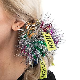 Birds Of Prey Harley Quinn Caution Tinsel Cosplay Hair Tie Scrunchie