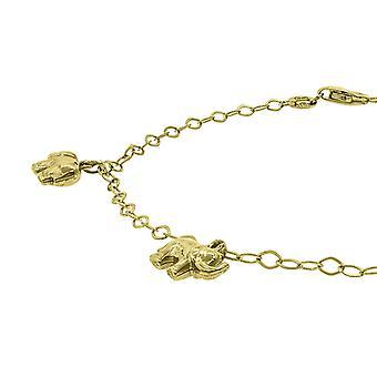 10k Yellow Gold Womens Elephant Anklet 10 Inch Sieraden Geschenken voor vrouwen - 2,4 gram