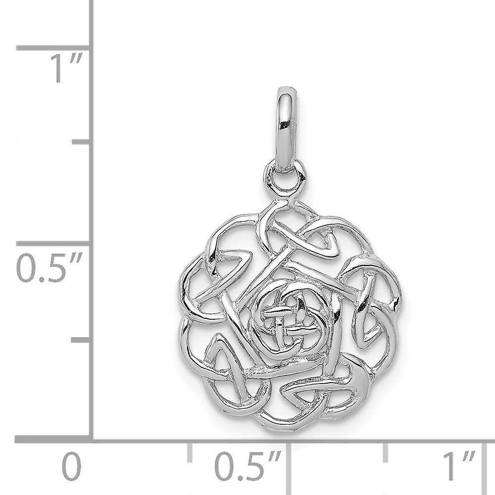 925 Sterling Silber poliert irische Claddagh keltische Dreifaltigkeit Knoten Anhänger Halskette Schmuck Geschenke für Frauen