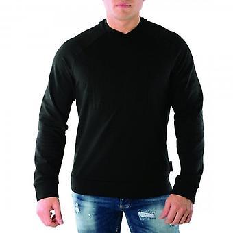 エンポリオ アルマーニ クルー ネック エンボス ロゴ スウェットシャツ ブラック 6G1MF5