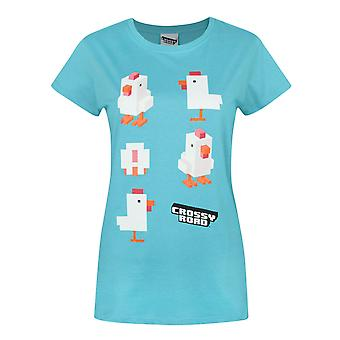 Crossy Road Chicken Blue Women's T-Shirt