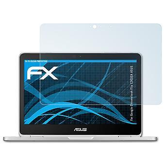 atFoliX Glass Protector compatibel met Google Chromebook Flip C302CA ASUS 9H Hybrid-Glass