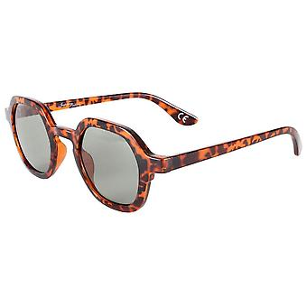 Jeepers Peepers Sześciokątne okulary przeciwsłoneczne - Brązowy Tort