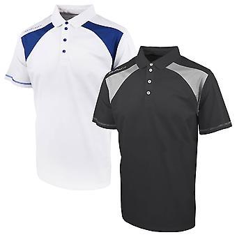 Island Green Mens 2020 Contrast Panel Short Sleeve Golf Polo Shirt