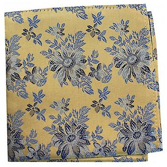 Posh and Dandy Flowers Silk Handkerchief - Burnt Orange