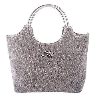 LALU' Glitter Ingemer Women's Shoulder Bag Silver 14x31x34 cm (W x H x L)