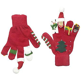 Kidorable Boys' Little Christmas Glove, Red, Small (ages 3-5 years)