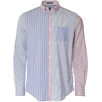 GANT Regular Fit Mixed Stripe Windblown Oxford Shirt
