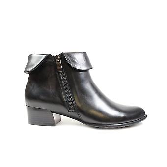 Canal Grande Bruna Black Leather Womens Heeled Ankle Boots