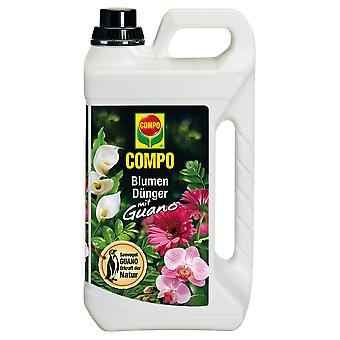 COMPO Flower fertilizer with guano, 3 litres