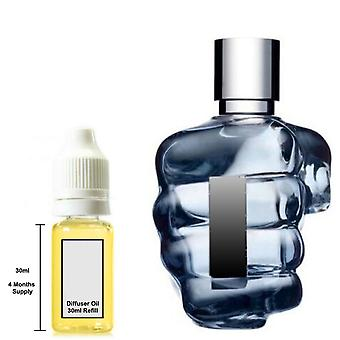 Diesel Only The Brave For Him Inspired Fragrance 30ml Refill Essential Diffuser Oil Burner Scent Diffuser