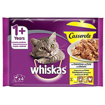 Whiskas Pack 4 Casserole 1+ Aves (Cats , Cat Food , Wet Food)
