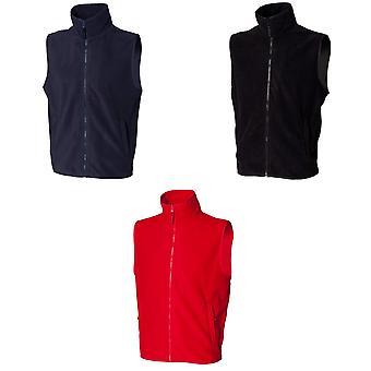 Henbury Mens sans manches micropolaire Anti pilule Showerproof veste légère / Bodywarmer
