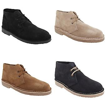Roamers Mens Real Suede Unlined Desert Boots
