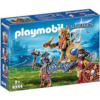 Playmobil 9344 Riddere Dverg Konge med Vakter