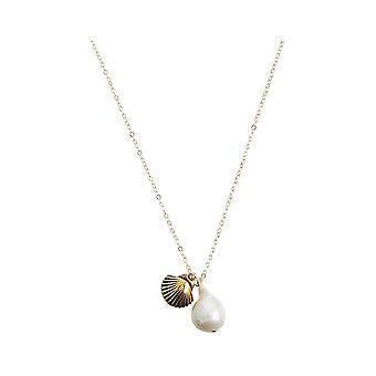 Maritim Nautics collier coquillage 925 argent, or plaqué, rose, perle baroque