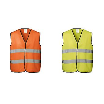 ID Unisex Hi Visibility Fluorescent Loose Fitting Worker Vest