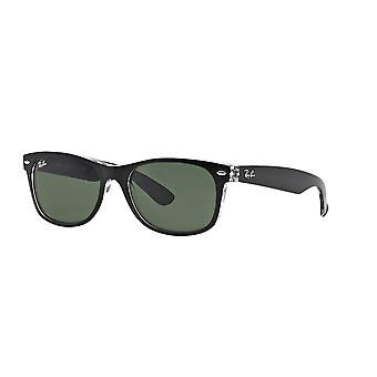 Ray-Ban New Wayfarer RB2132 6052 Top Black On Transparent/Green Sunglasses