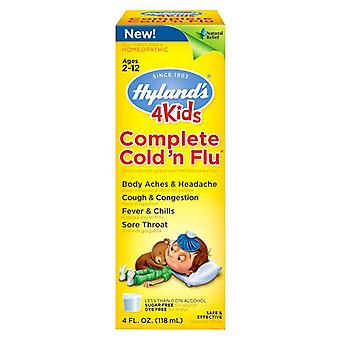 Hyland's 4kids complete cold 'n flu relief, sugar free, 4 oz