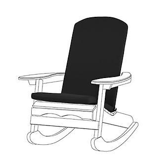 Gardenista Garden Premium Adirondack Silla Seat Pad ? Lazos seguros ? Espuma llena ? Cubierta con cremallera resistente al agua ? Suave Durable y Cómodo (Negro)