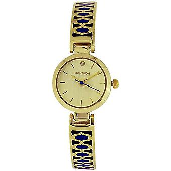 Monsoon Beautiful Ladies Goldtone Blue Design Bracelet Strap Watch MO4040