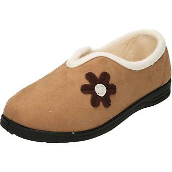 Cushion-Walk Plum Warm Lined Slip On V Front Slippers