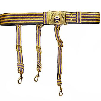 Knights templar past grand commander purple & gold sword belt - purple cross