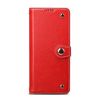 For Samsung Galaxy S20 Ultra Case Genuine Leather Luxury Wallet Case Red