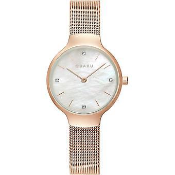 Obaku Vikke Rose Women's Wristwatch V241LXVWMV
