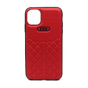 Audi Leren Backcover Hoesje Q8 Series iPhone 11 Pro - Rood