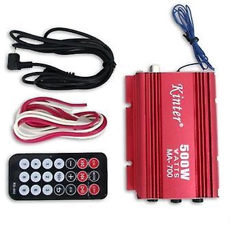 500w RMS Car Motorcycle 2 Channel Speaker Amp Amplifier USB MP3 FM