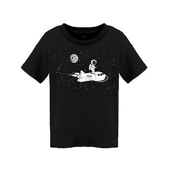 Astronaut Riding Space Shuttle Tee Toddler's -Image by Shutterstock