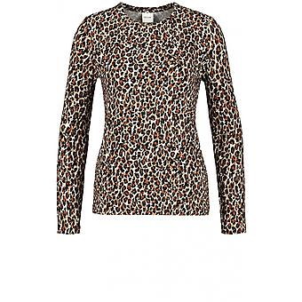 Taifun Leopard Print Jersey Top